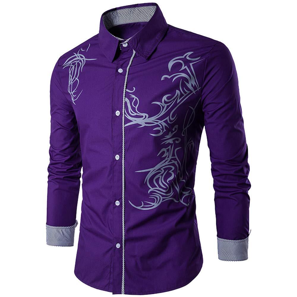FRAUIT Hemd Herren Wunderschön Printed Jeanshemden Shirt Top Bluse Für Anzug, Business, Hochzeit, Freizeit Party 100% Baumwolle M-XXL