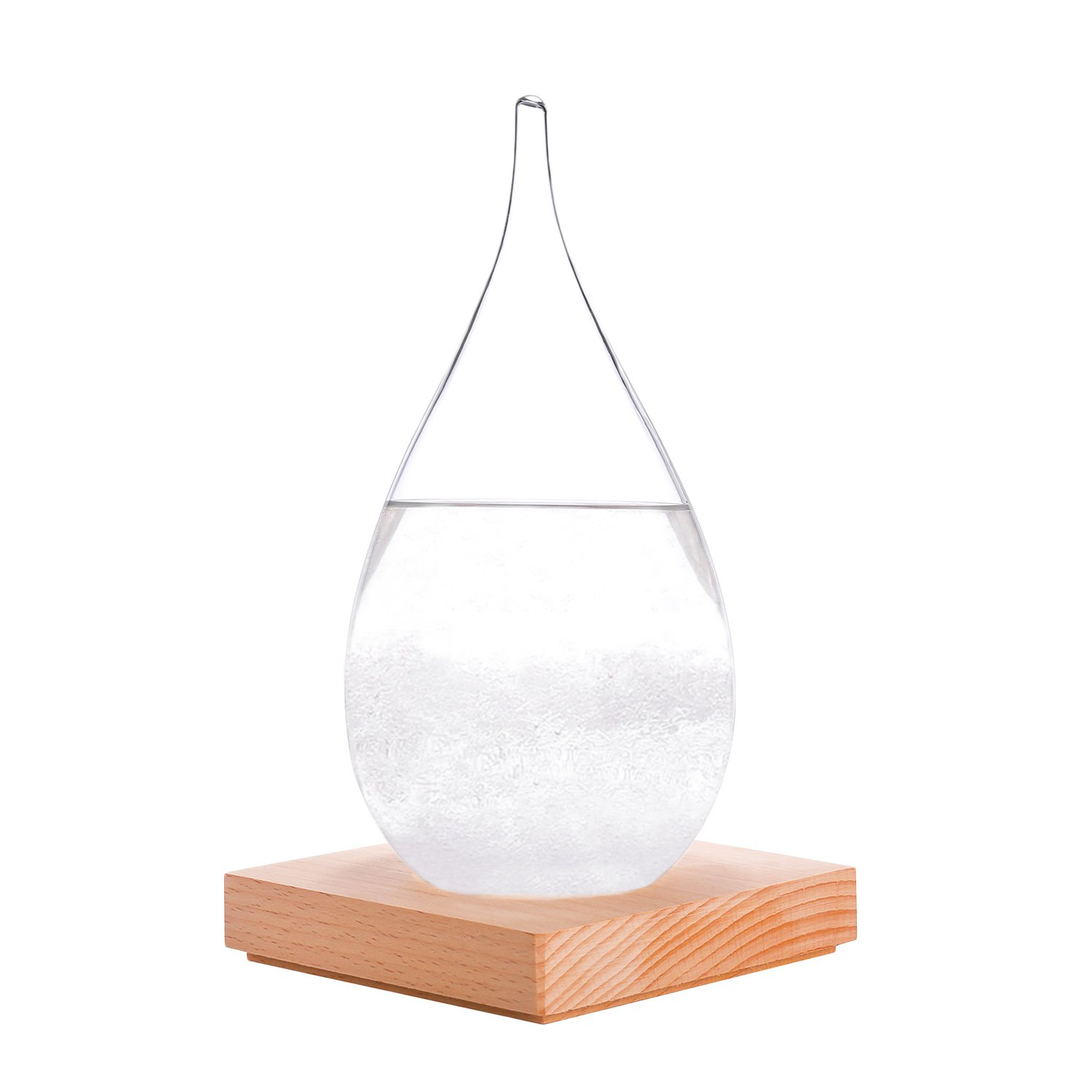WELLDONE® Creative Fashion Desktop Storm Glass Crafts Home Decoration, Weather Storm Forecast Barometer Weather Station.t Predictor Bottle Barometer (Large-1) KKwell