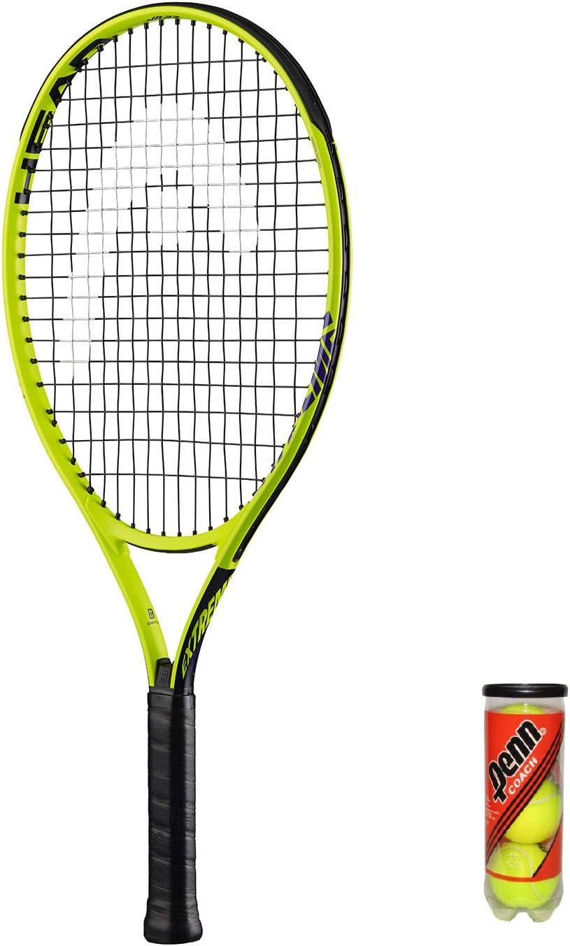 Head Extreme Junior - Raqueta de tenis (3 bolas, funda protectora ...