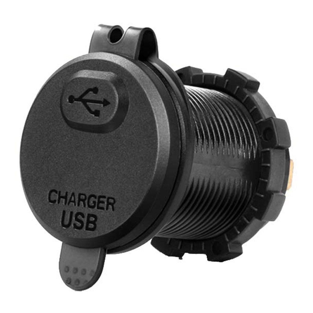 JENOR Cargador de coche USB 3.0 de carga r/ápida con interruptor de volt/ímetro LED para coche marino ATV