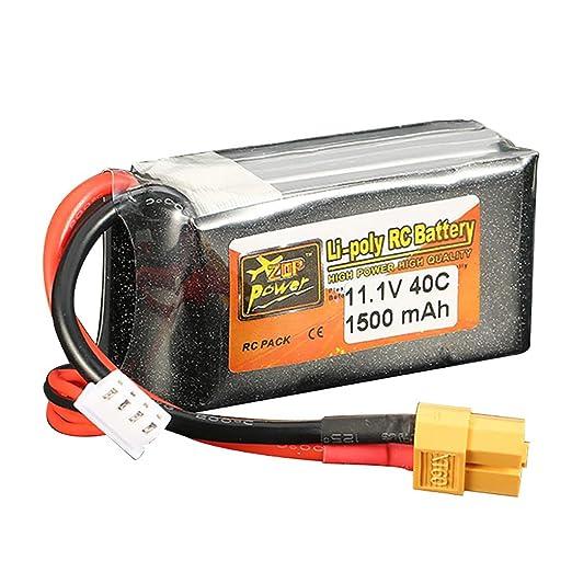 11,1 V 1500 mAh 3 S 40 C batería XT60 conector para RC coche ...