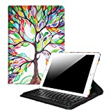 "Fintie iPad 9.7 inch 2018 / 2017 / iPad Air 2 / iPad Air Keyboard Case - 360 Degree Rotating Stand Cover Built-in Wireless Bluetooth Keyboard for Apple iPad 9.7"" / iPad Air 2 / iPad Air, Love Tree"