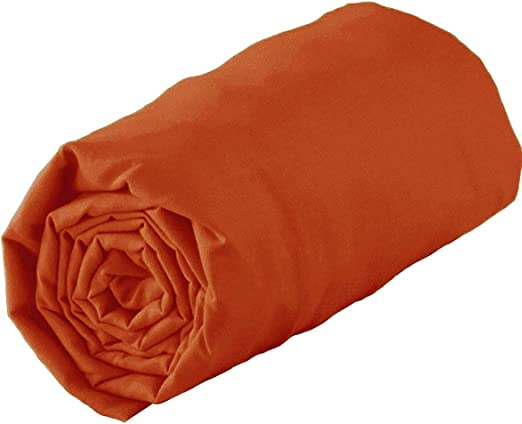 Tradilinge sábana bajera Uni algodón – Uni algodón – Calabaza, 180 x 190 x 30: Amazon.es: Hogar