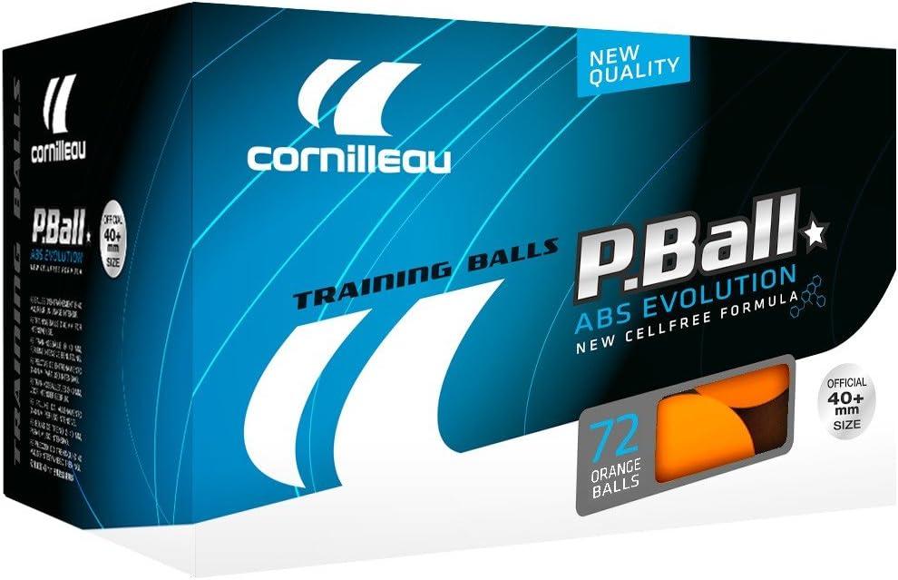 Cornilleau Ittf Plastic Abs Evolution Pelotas de Entrenamiento de 1 Estrella (Paquete de 72), Unisex Adulto