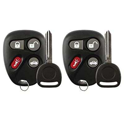 For 03-07 Cadillac CTS Keyless Entry Remote Key Fob L2C0005T, 12223130-50 + Chip Key 2 PACK: Automotive