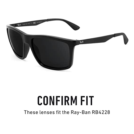 8d08a15b871 Amazon.com  Revant Polarized Replacement Lenses for Ray-Ban RB4228 Elite  Black Chrome MirrorShield  Sports   Outdoors