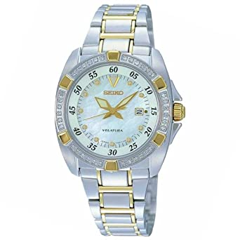 277a929e016b Image Unavailable. Image not available for. Color  Seiko Velatura Women s  Two Tone Watch ...