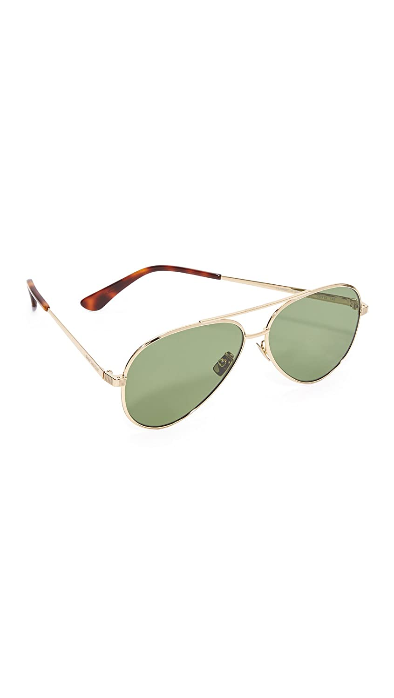 Saint Laurent Women's Classic 11 Mineral Aviator Sunglasses