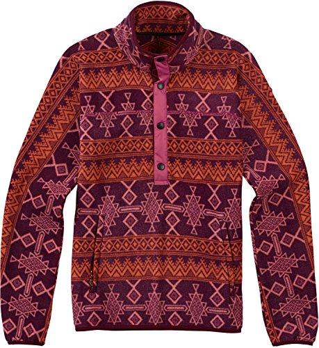 Burton Anouk Pullover Fleece, Starling Mojave, Small (Jacket Henleys)