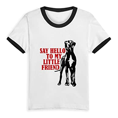 a602008d SKYAKLJA Toddler Great Dane Fun Children's Black Cotton Short Sleeve Round  Neck T Shirt for Boy