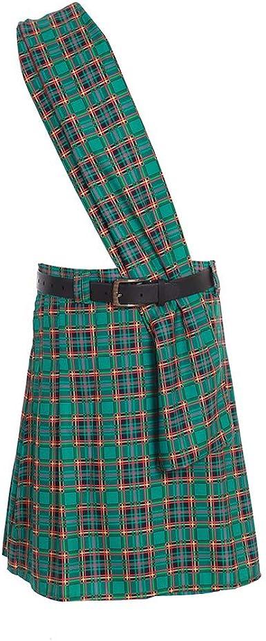 SCARLET DARKNESS Falda Escocesa Tradicional Escocesa para Hombre