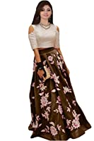 Roadstar India Women's Semi Stitched Lehenga tops for women western wear (SDK Series_2017_Free Size Unstitched)