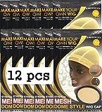 Strect Mesh Dome Style Wig Cap Natural Color #5031 (12 pcs)