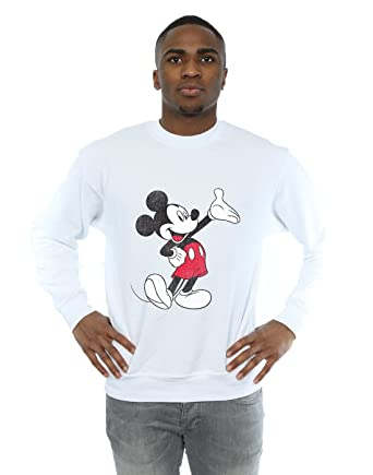 Disney Hombre Mickey Mouse Traditional Wave Camisa De Entrenamiento: Amazon.es: Ropa y accesorios