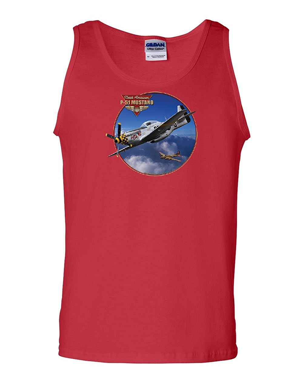 P-51 Mustang Tank Top WW2 American Fighter Aircraft Air Force Sleeveless