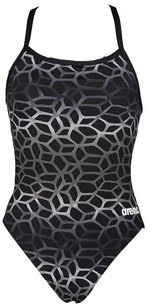 d0b663a139 Arena Women's Polycarbonite II Swimming Costume, Multicoloured (Black/Grey),  30-