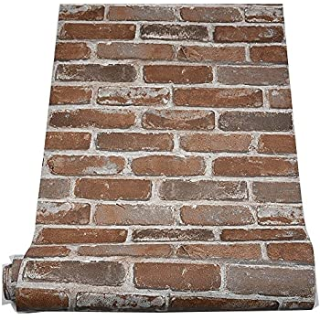 Blooming Wall Faux Vintage Multi Color Red Brick Texture