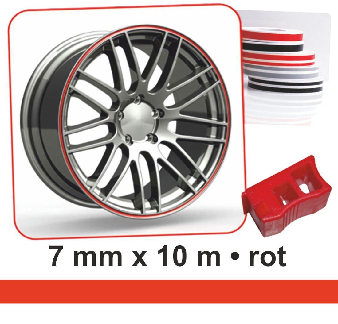 Deco-Stripes Wheel-Stripes for wheel-rims red 7 mm x 10 m carstyling XXL