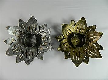 Thai Gifts Lotus Flower Cone Incense Burner Metal Lotus Flower