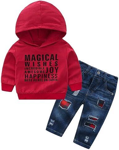 Recién Nacido Bebé Niños niñas Sudadera con Capucha Camisetas ...