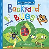 """A multifaceted introduction to backyard bugs for babies and toddlers. Bright, friendly illustrations prompt for closer examination, and a brief educational note for each critter accompanies more typical descriptive sentences about buzzing bees and m..."