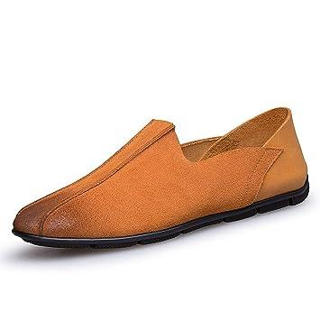 Willsego Mocasines cómodos, Marrones, cómodos, para Hombre, para niños, de Reino Unido 8.5 (Color : -, tamaño : -): Amazon.es: Hogar