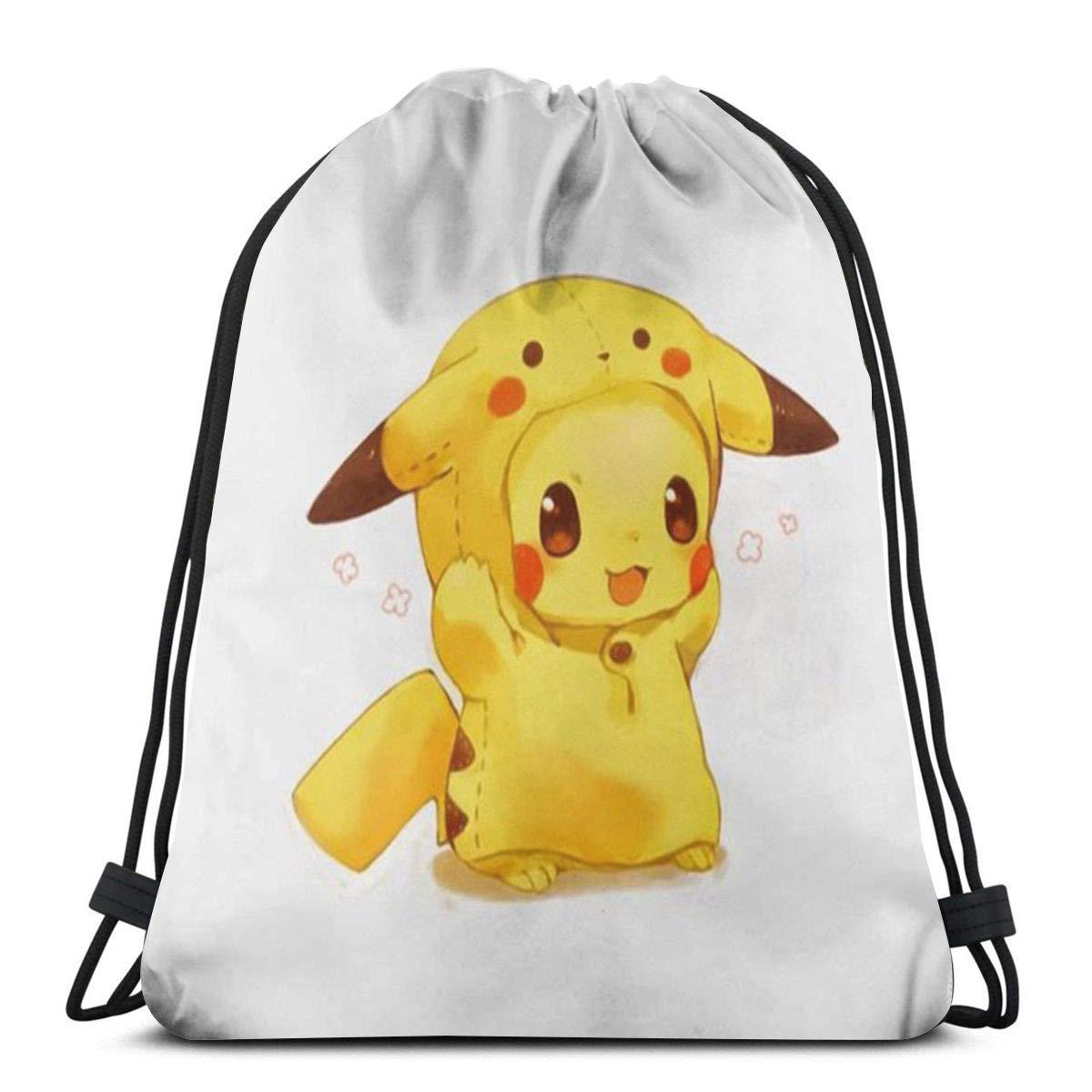 c8ee8fa77b Classic drawstring bag cute cartoon pikachu backpack shoulder bags sport  storage bag for man women home. Download Image