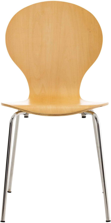 CLP Sedia Impilabile Diego in Legno I Sedia Attesa in Metallo I Sedia Ergonomica Conferenza I Sedia Design Classico Riunioni O Sale Arancione