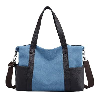 Amazon.com: lonson Mujer Lona trabajo bolsa bolsa de fin de ...