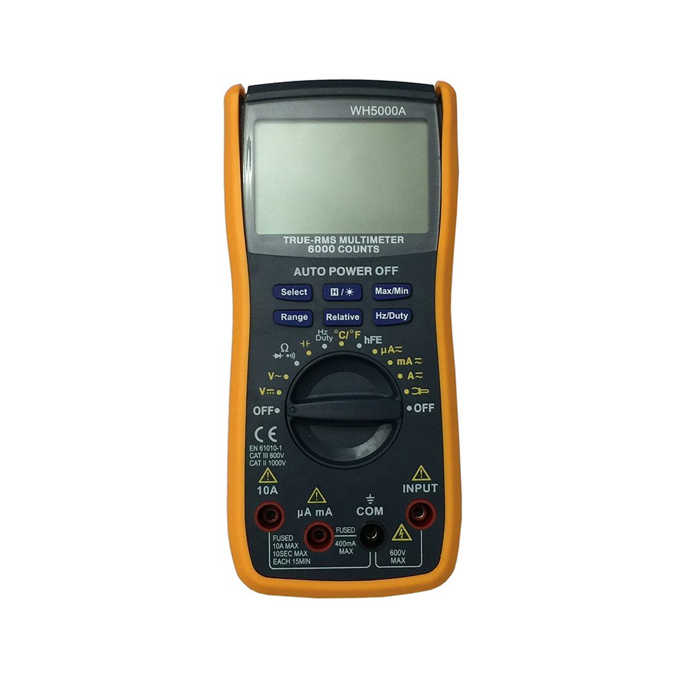 OLSUS WH5000A LCD Handheld Digital Multimeter Using for Home and Car - Black + Yellow