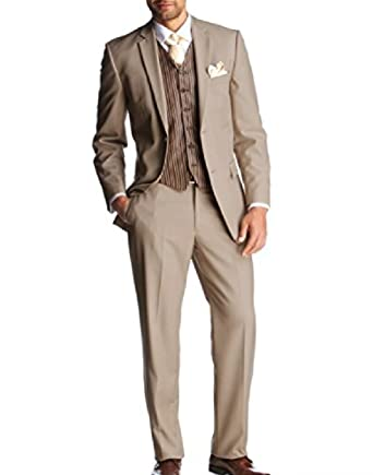 online store 8ad21 a674e keskin collection Herren Anzug Beige Creme: Amazon.de ...