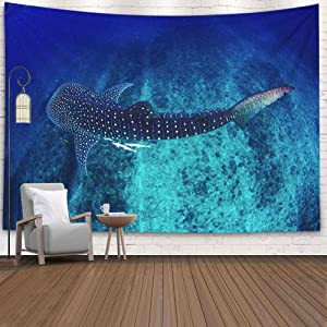 Jacrane Christmas Decor, Christmas Home Decor Tapestry 80X60 Inch Decorative Christmas Humpback Whale Its as Australia Lifts Fluke It Dives Sydney Outdoor Christmas Decorations