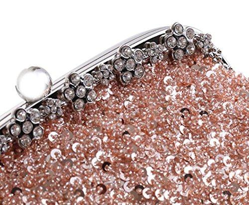 Bal Le Mariée Gold Mariage À Nouveau Main Diamants Élégant Pour Soirée Sac Pochette Paillettes Bourse Gshga FqU7SS