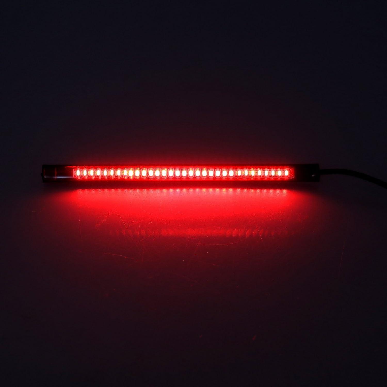 SING F LTD 4pcs Motorcycle LED Strip Lights Flexible Bendable 12V Waterproof Universal Tail Brake Stop Turn Signal Indicator Blinker Running Light