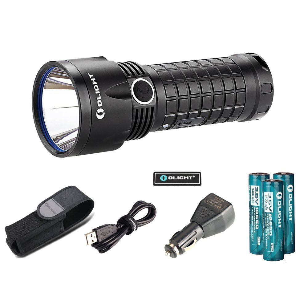 Bundle: olight sr52ut kit intimidator rechargeable flashlight cree xp-l hi led 1100 lumen high intensity search light kit powpered by 3 x 18650 batteries or 6 x cr123a batteries ( sr52-ut ) by Olight