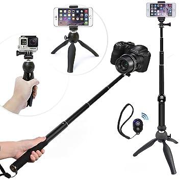 WiHoo Palo Selfie Stick Con Trípode Y Bluetooth Remote Control ...