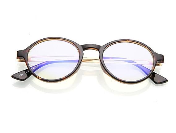 SMX Gafas Anti LUZ Azul y UV para Pantalla/Filtro luz Azul de Descanso para pcGafas de protección de radiación Gafas Anti-luz Azul, Marco Progresivo de té: ...