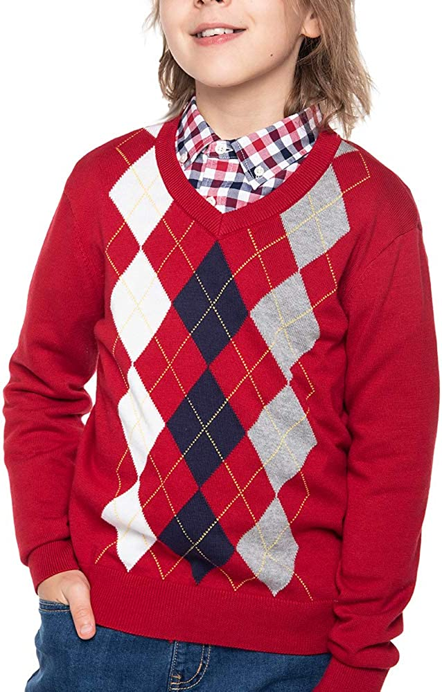 Benito /& Benita Boys Pullover Sweater Uniforms With Argyle Patterns 3-12Y