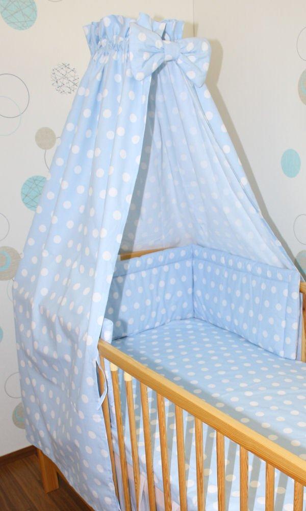 Himmel Vollstoff mit Himmelstange f/ür Baby Kinder Bett Baumwolle Vollstoffhimmel D1