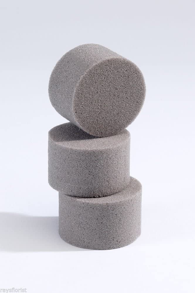 5 x Oasis Ideal Round Cylinder Wet Foam for Florist Floral Craft Flowers Floristry Designs /& Displays