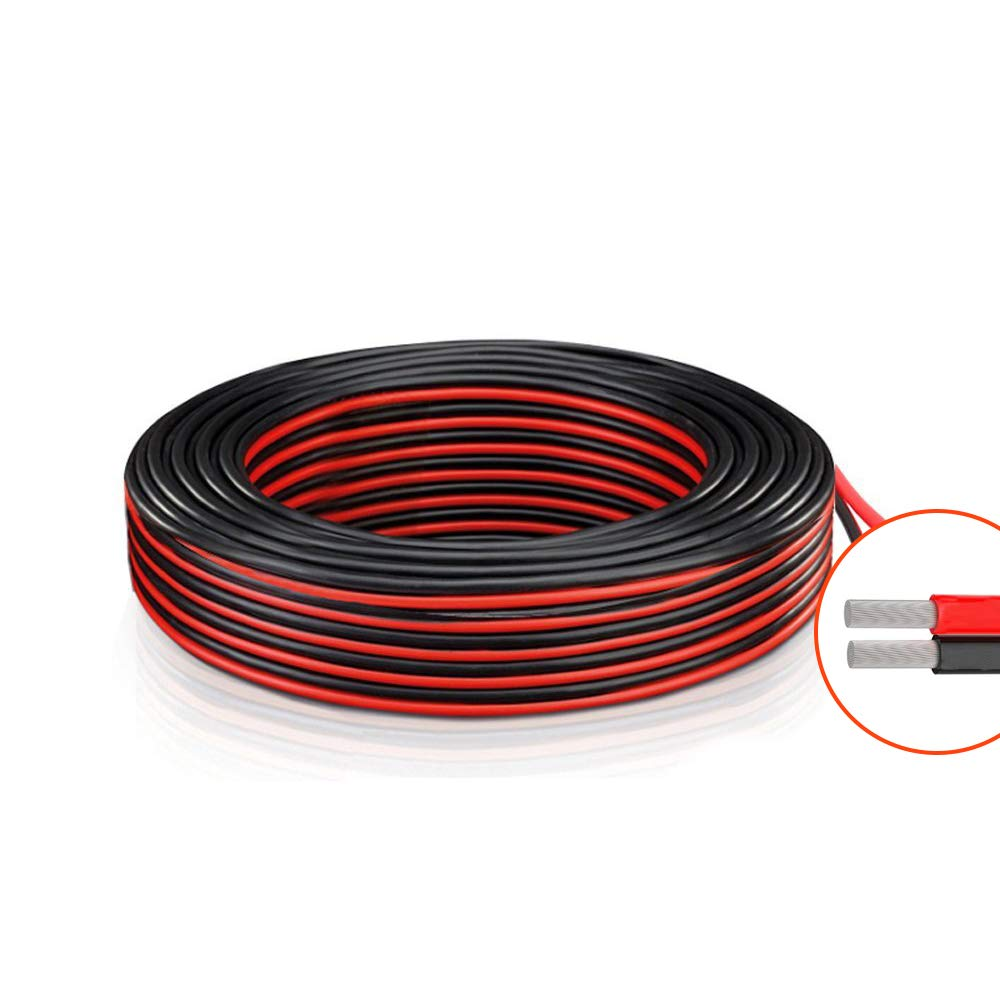 140 Feet 18 Gauge AWG 2 conductor Electrical wire - 70 Ft Red and 70 Ft Black 18 AWG Silicone wire Copper Stranded,LED strip extension,Car,Home Stereo Speaker,Auto Hookup Wire Cable,By Brightfour
