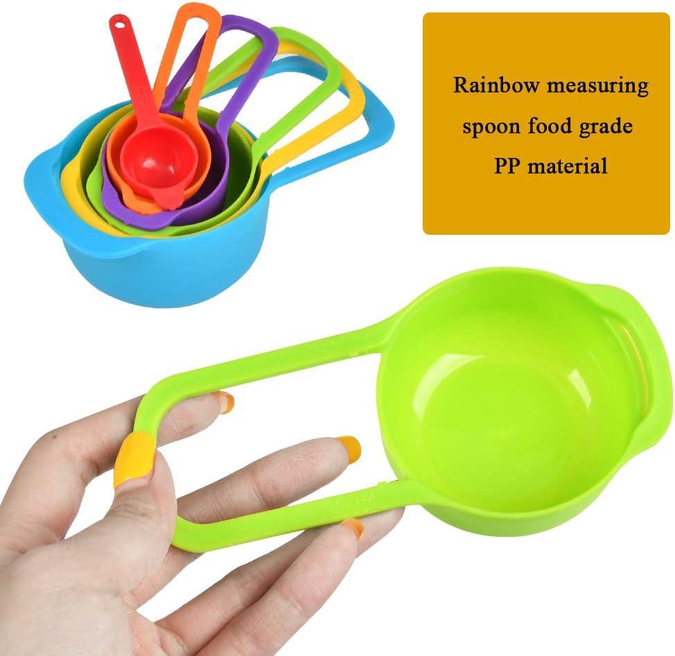 POKIENE Set di Misurini di Plastica Misurino ML per Cucina Multicolor Misurini Compatti con Manico 7.5//15//60//80//125//250 ML