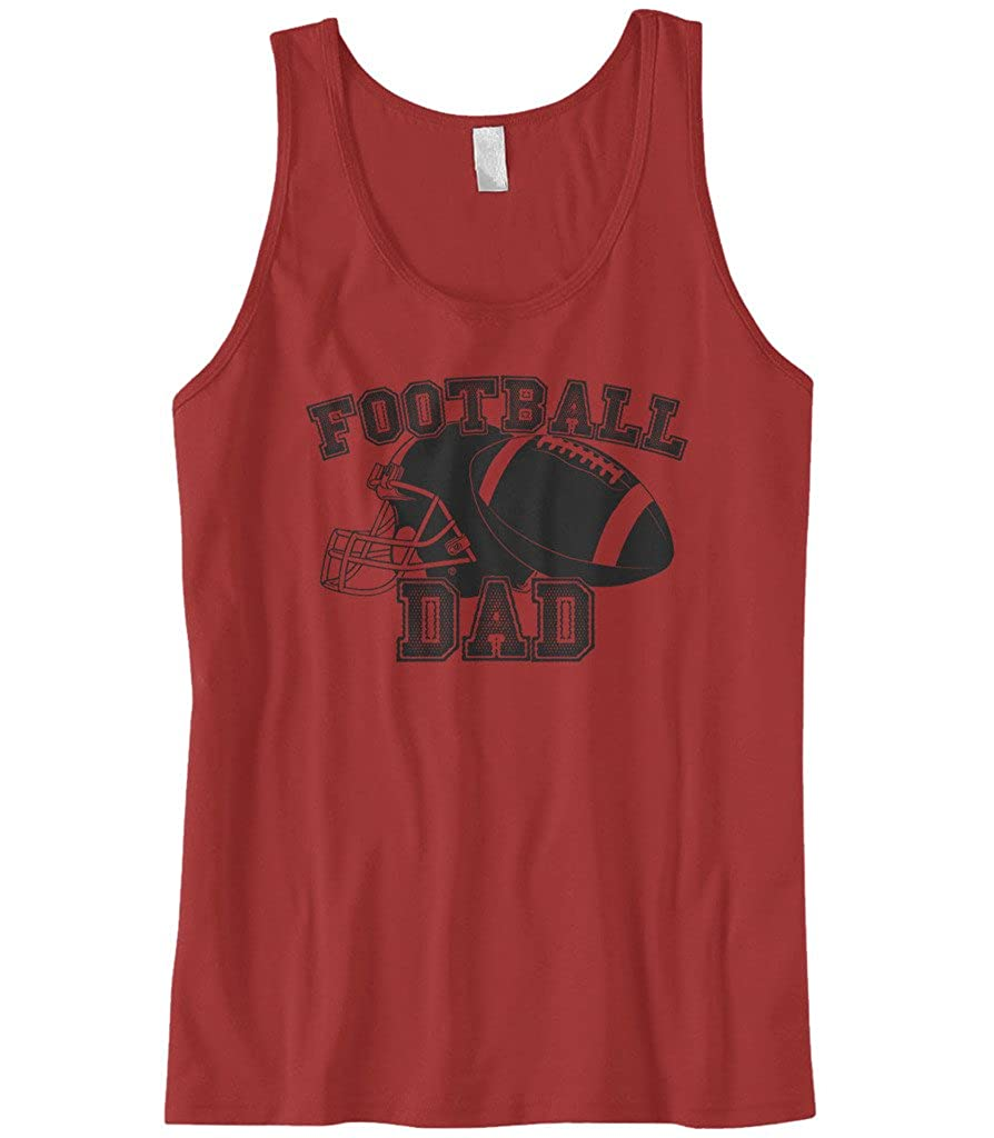 Cybertela Mens Fathers Day Gift Football Dad Tank Top