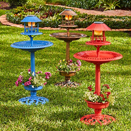 Bird Bath With Solar Light in US - 5