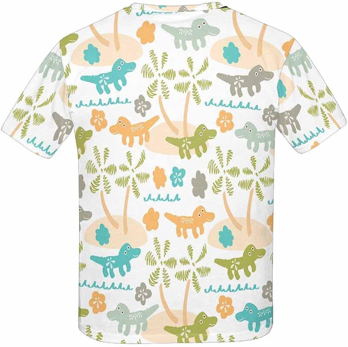 XS-XL INTERESTPRINT Youth T-Shirts Dinosaur in Cartoon Style
