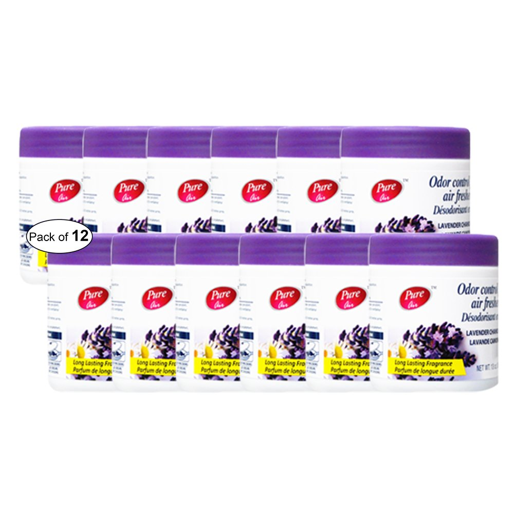 Pure Air Odor Control Gel Air Freshener- Lavender Chamomile(369g) (Pack of 12)