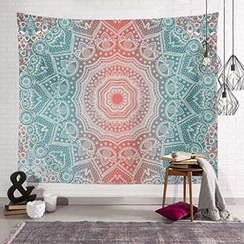 AITREASURE Mandala Tapestry Hippie Bohemian Tapestries Psychedelic Boho Tapestry Wall Hanging for Bedroom ( Pink Mandala, 59''×79'' )