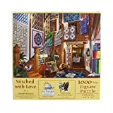quilt puzzle - SunsOut 38871 1000 Piece Stitched with Love Art and Craft Product