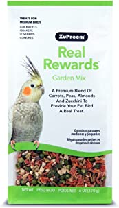 Real Rewards Garden Mix Medium Bird Treats By Zupreem