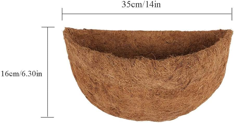 Whewer Half Round Coco Liner Half Circle Wall Planter Coco Liner Replacement Round Hanging Baskets Liners Half Round Coco Fiber Replacement Liner